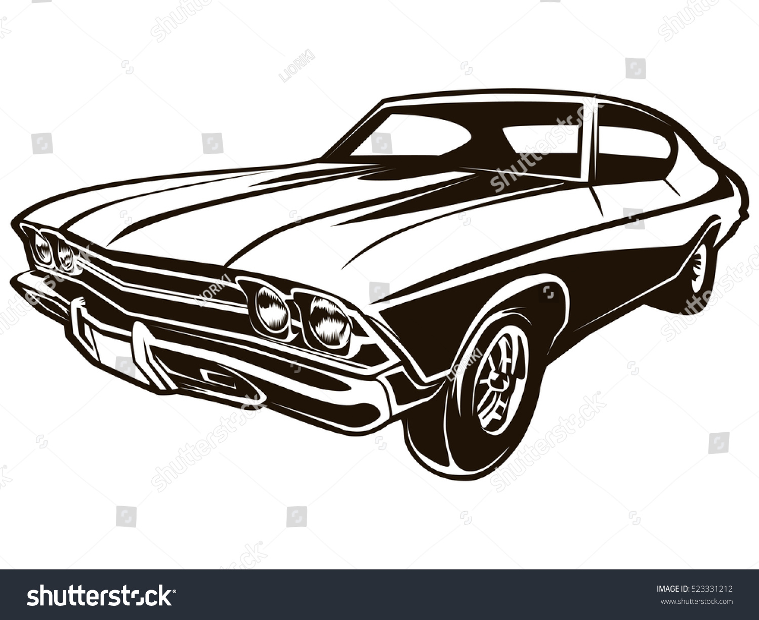 Vintage car outline vector 11