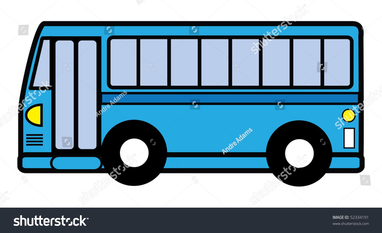 Cartoon vector illustration city bus stock vector 52334191 for Clipart bus