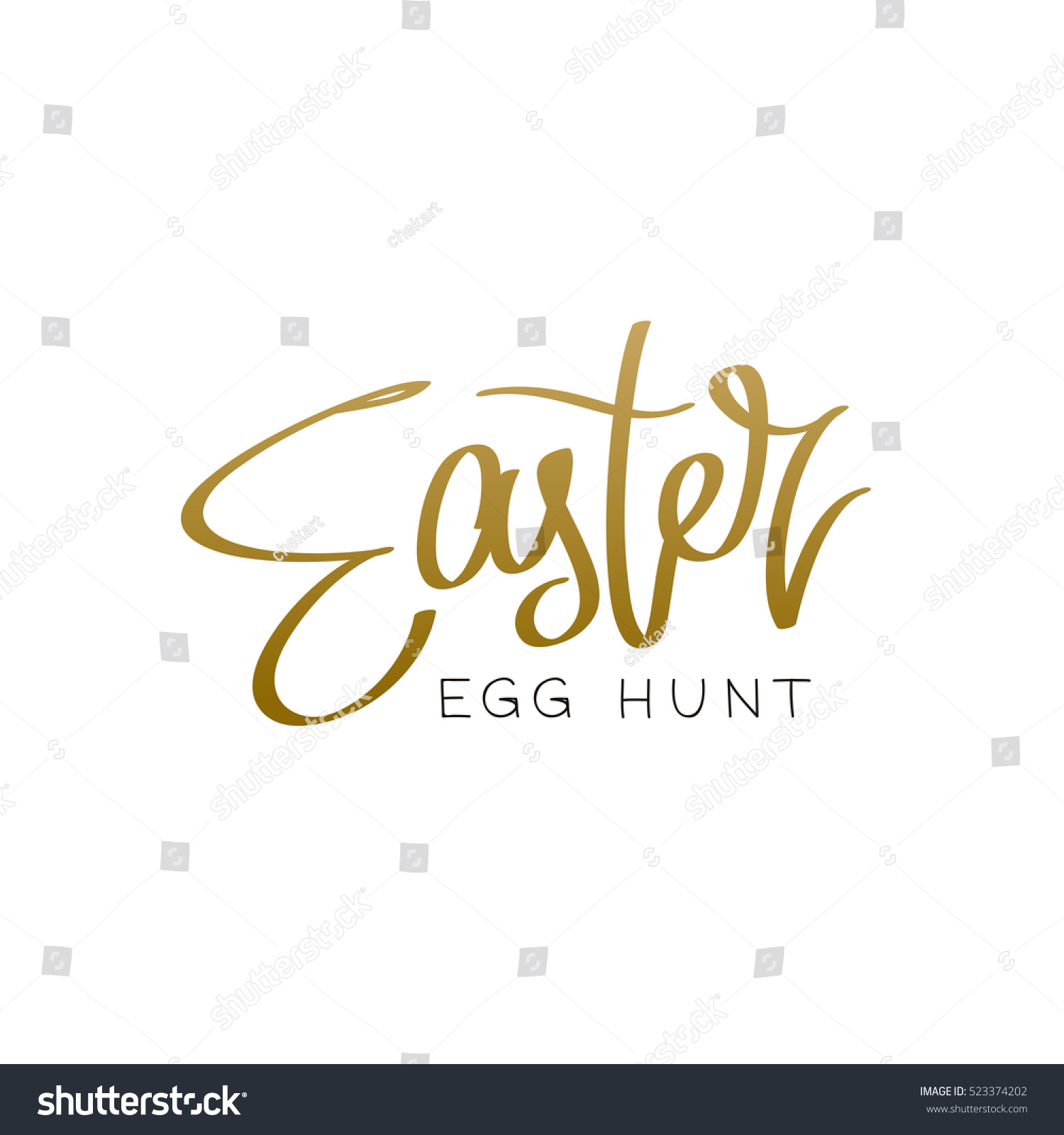 Easter egg hunt trend calligraphy vector stock vector 523374202 easter egg hunt the trend calligraphy vector illustration on white background great negle Image collections
