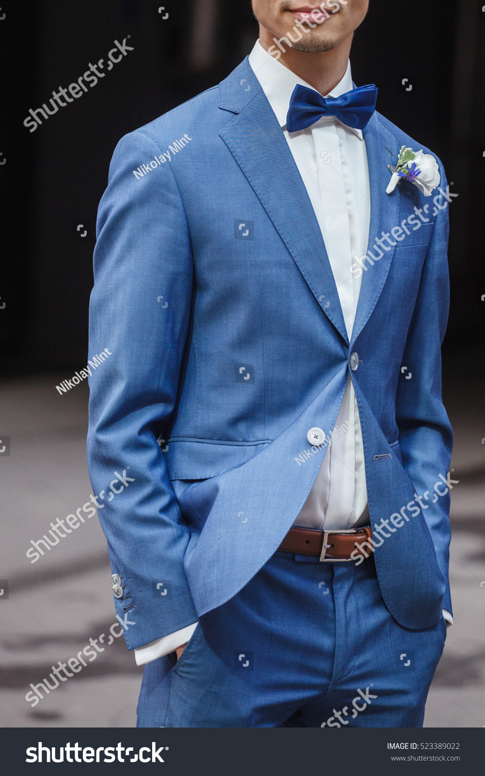 Elegant Young Fashion Man Dressing Wedding Stock Photo (Edit Now ...