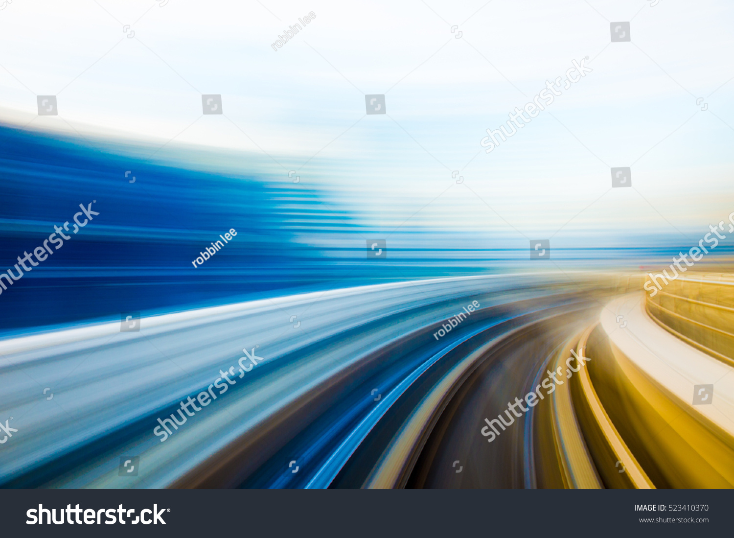 Speed motion in urban highway road tunnel  #523410370
