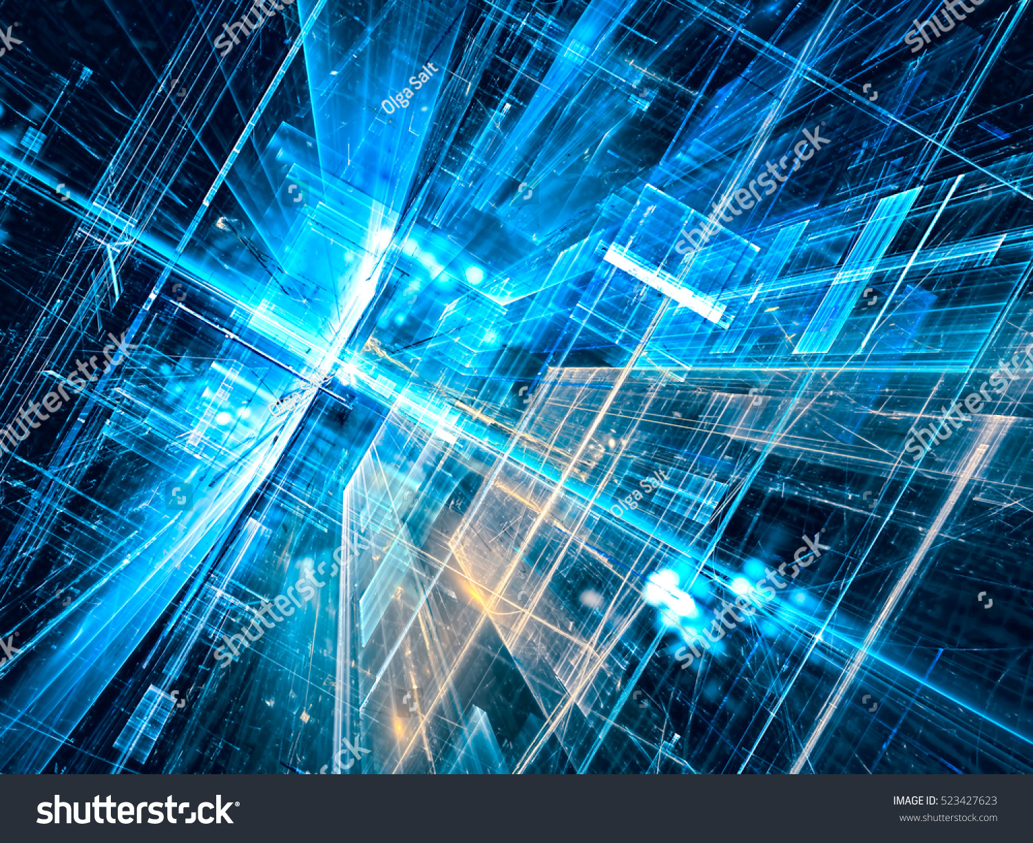 Abstract Technology Background With Light Effect: Abstract Future Technology Background Computergenerated