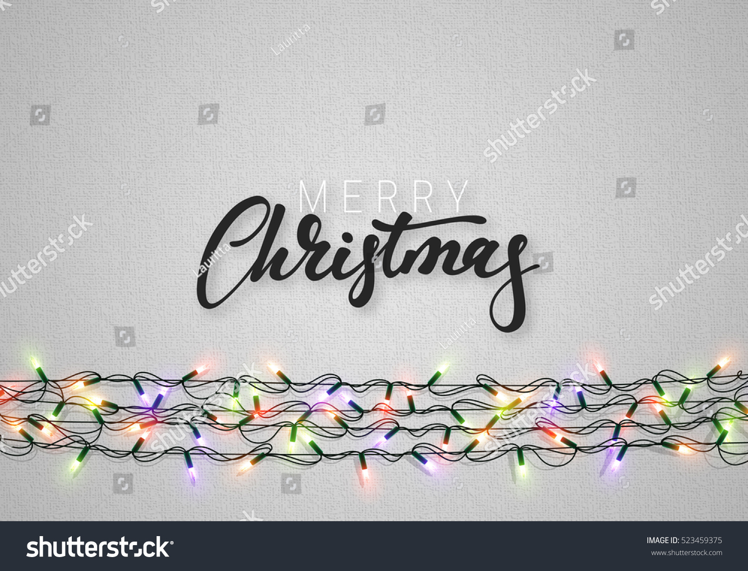 Christmas background with bright realistic garlands Christmas glowing lights Xmas Holiday Greeting cards design