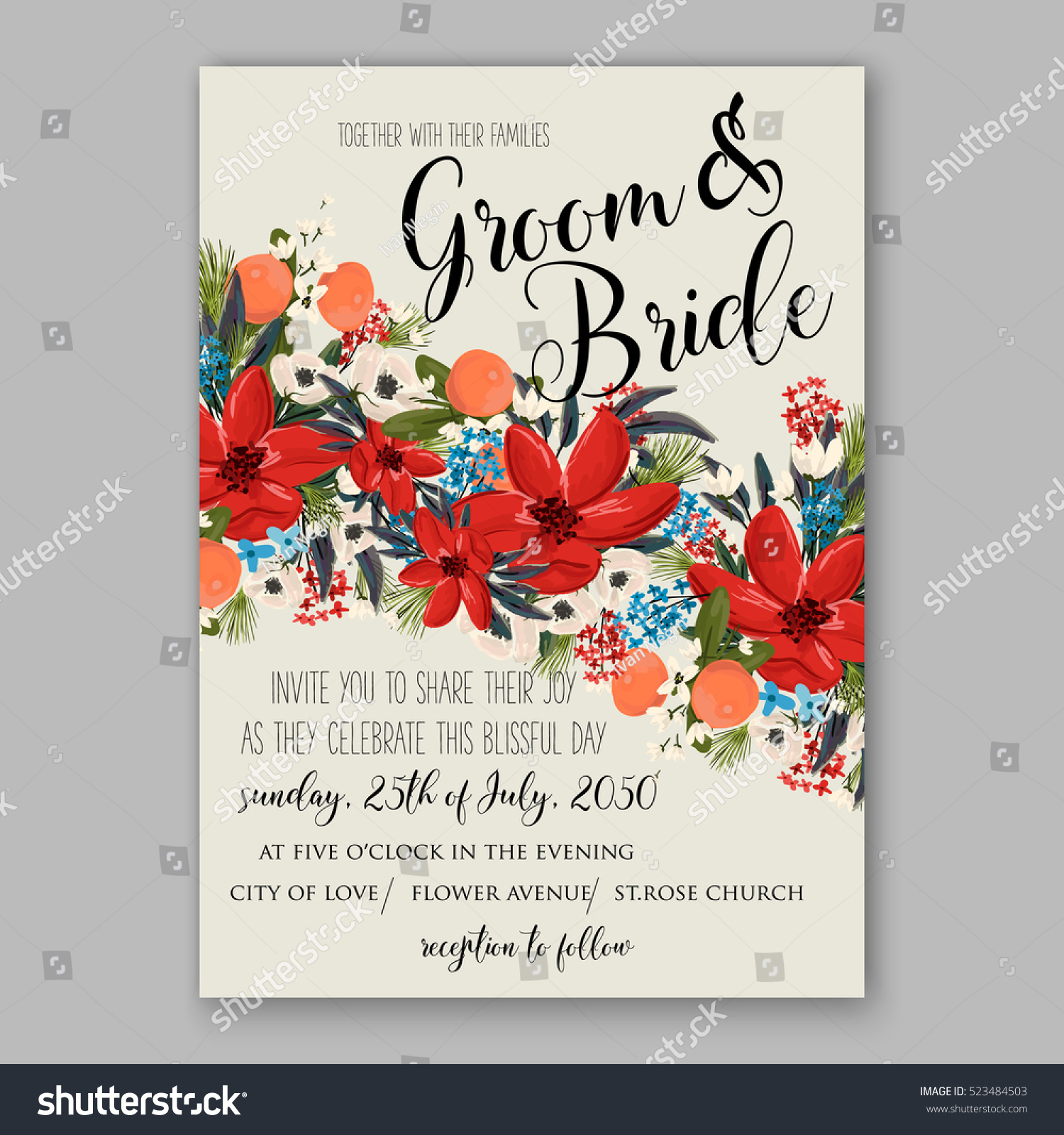 Funky Wedding Invitation Templete Pictures - Invitations and ...