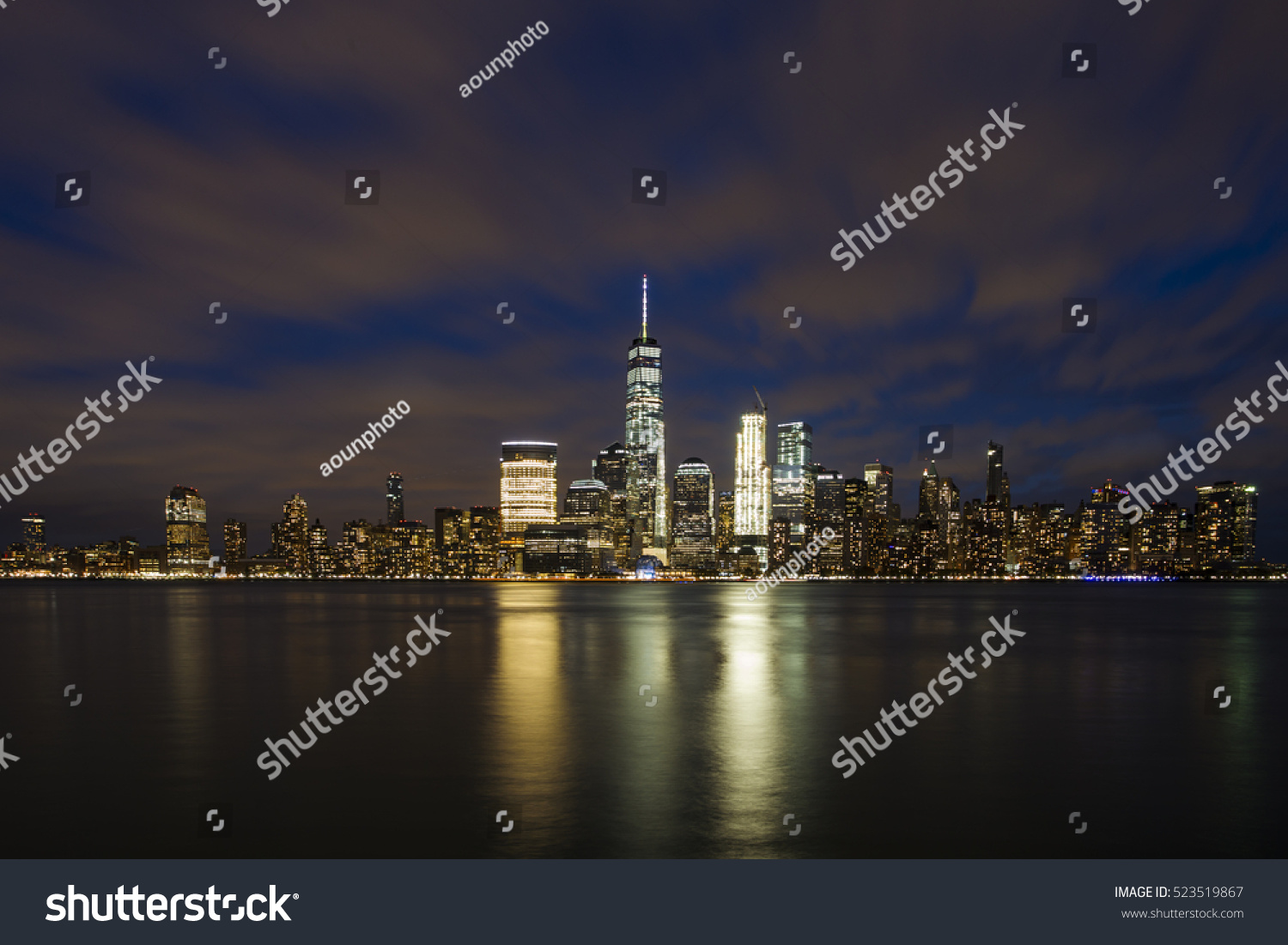 Nice view in New York City after sunset