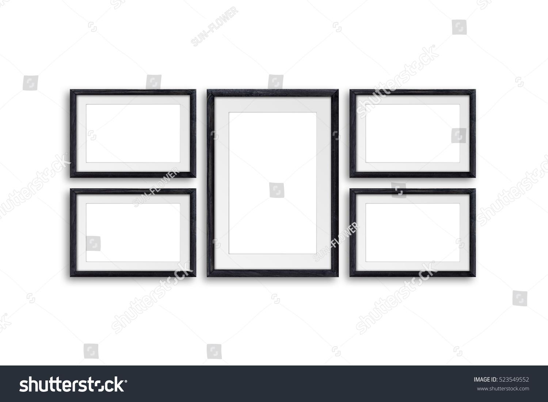 Black Frames Mockup Five Set Decor Stock Photo (Royalty Free ...