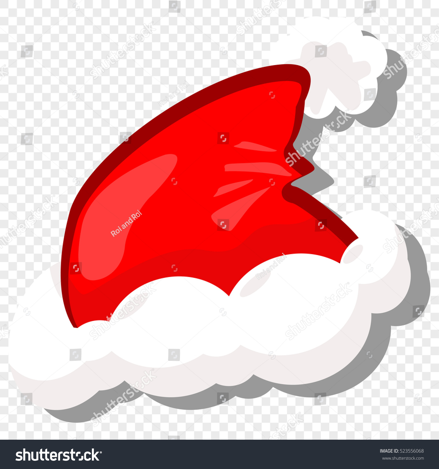 Red santa hat vector cartoon illustration stock