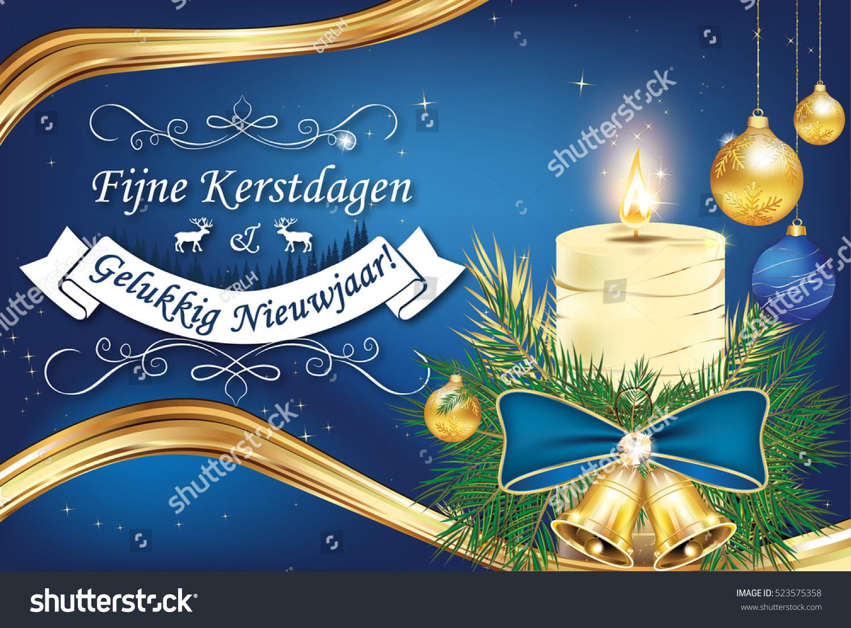 merry christmas and happy new year fijne kerstdagen en gelukkig nieuwjaar dutch