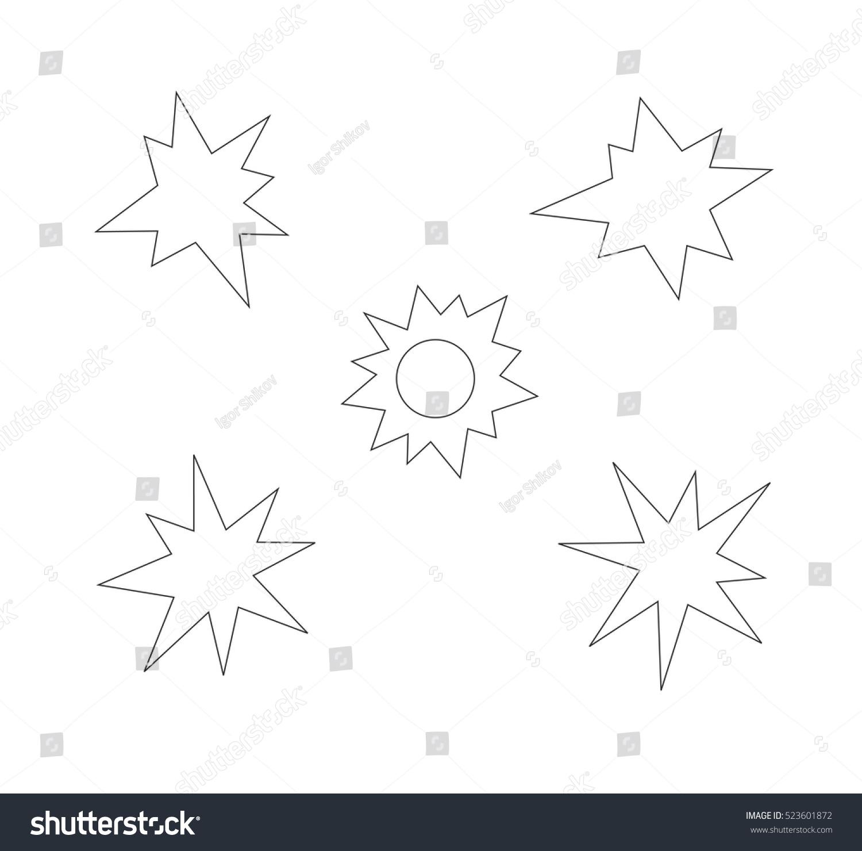 Splash star outline icon set stock vector 523601872 shutterstock splash star outline icon set sciox Gallery