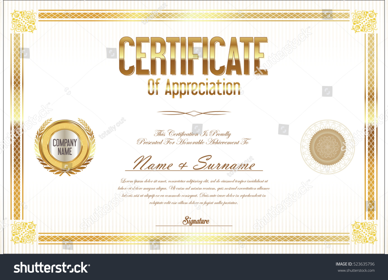 Certificate template retro design stock vector 523635796 certificate template retro design 1betcityfo Choice Image