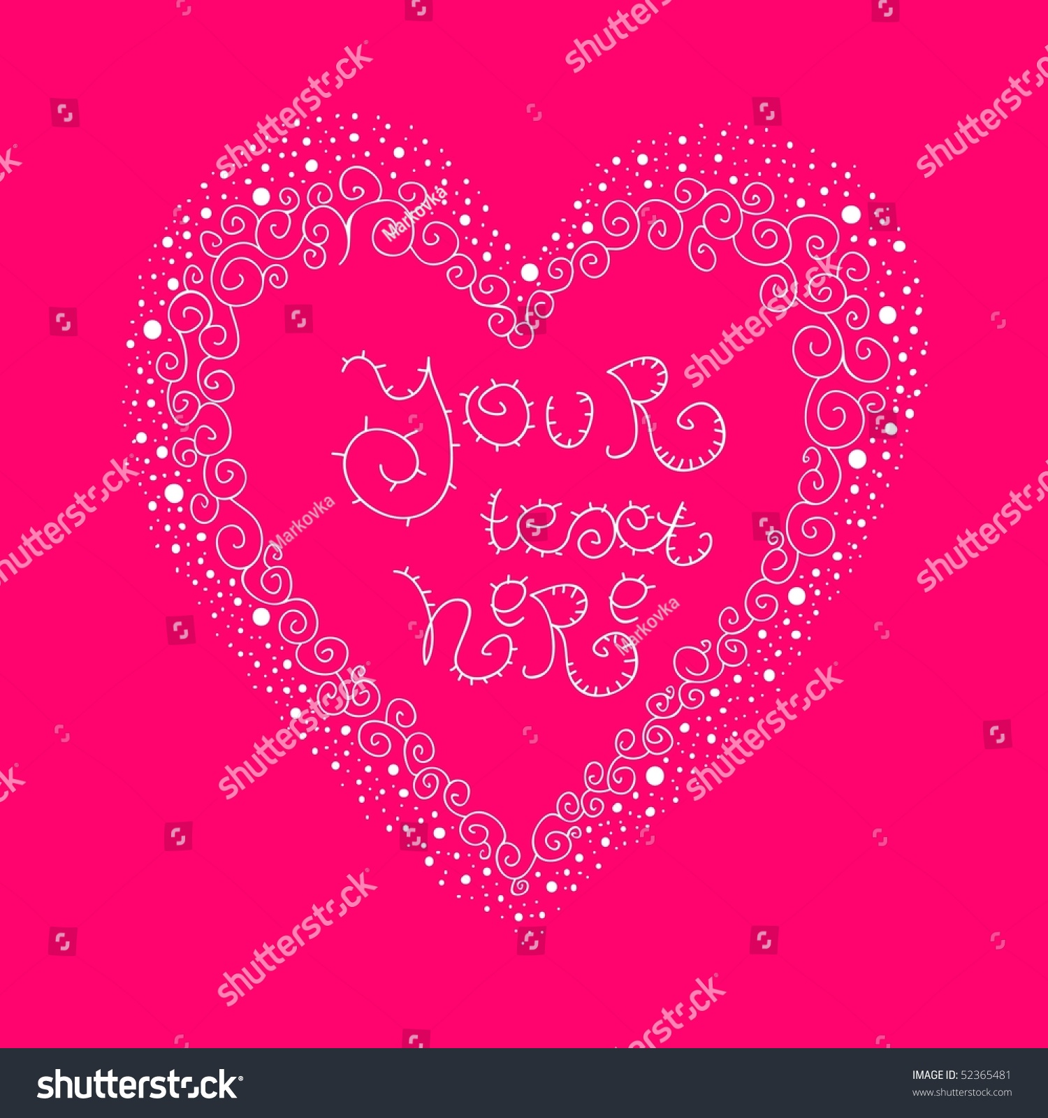 Vintage Heart With Place For Your Text Greeting Card Vector