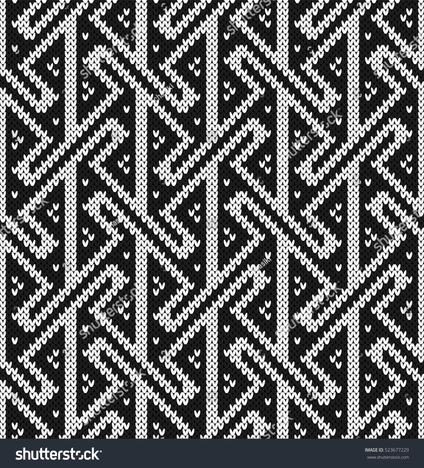 Key Seamless Knitting Pattern Stock Vector 523677229 - Shutterstock