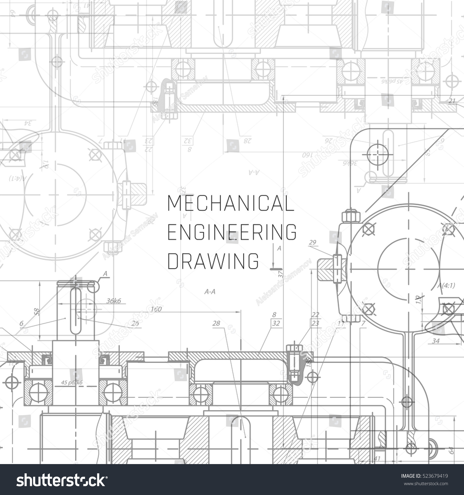 Mechanical engineering drawing engineering drawing for Engineering blueprints