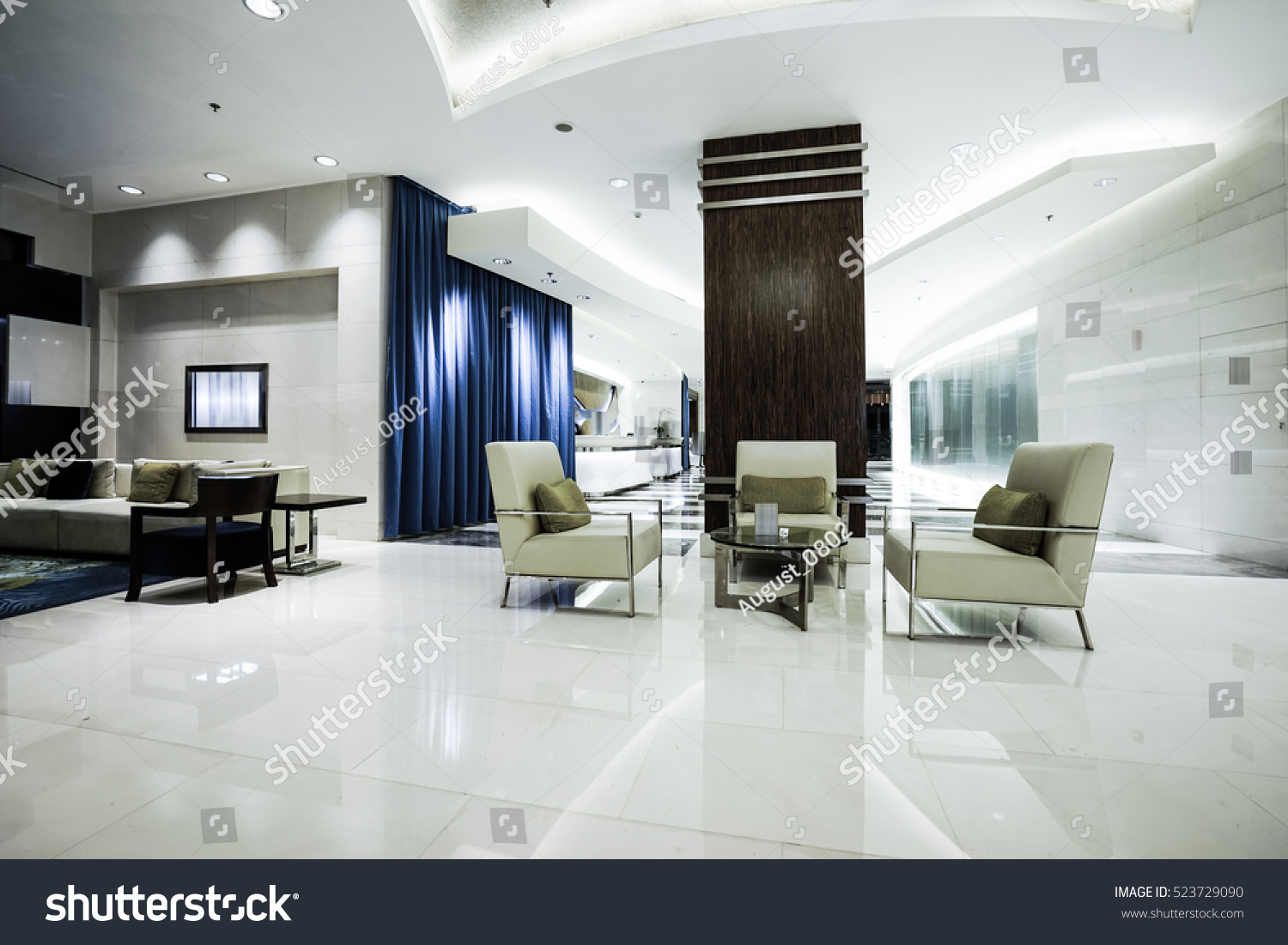 Luxury lobby interior