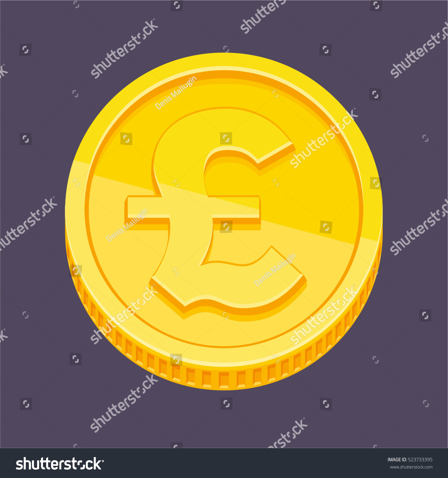 Currency symbol british pound sterling symbol stock vector currency symbol british pound sterling symbol on gold coin vector illustration biocorpaavc Images