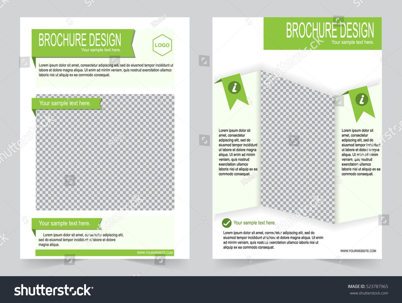green brochure template - brochure template flyer design green color stock vector