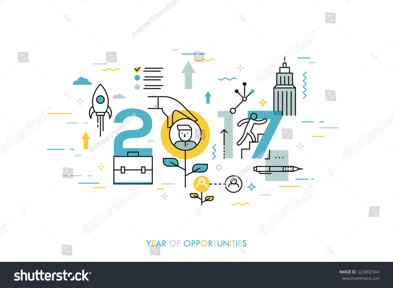 infographic concept 2017 year of opportunities new trends and prospects in career building