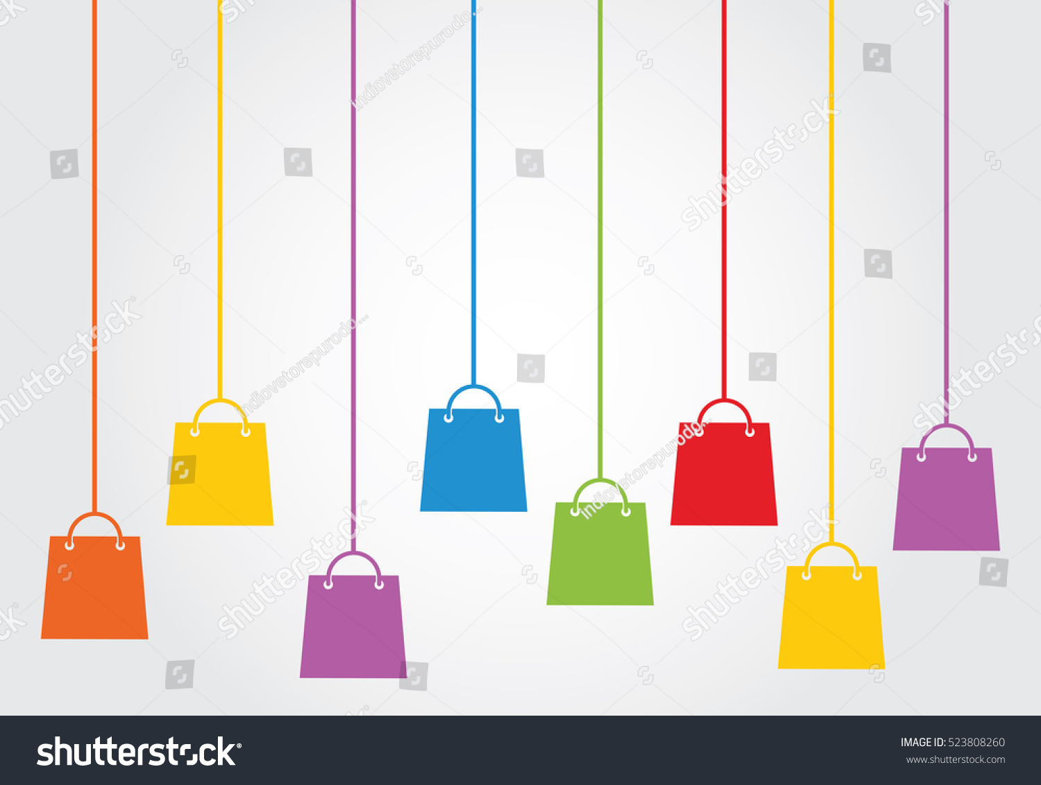 Shopping bag hanging copy space background stock vector 523808260 shopping bag hanging copy space background template for banners brochures business cards greeting magicingreecefo Image collections