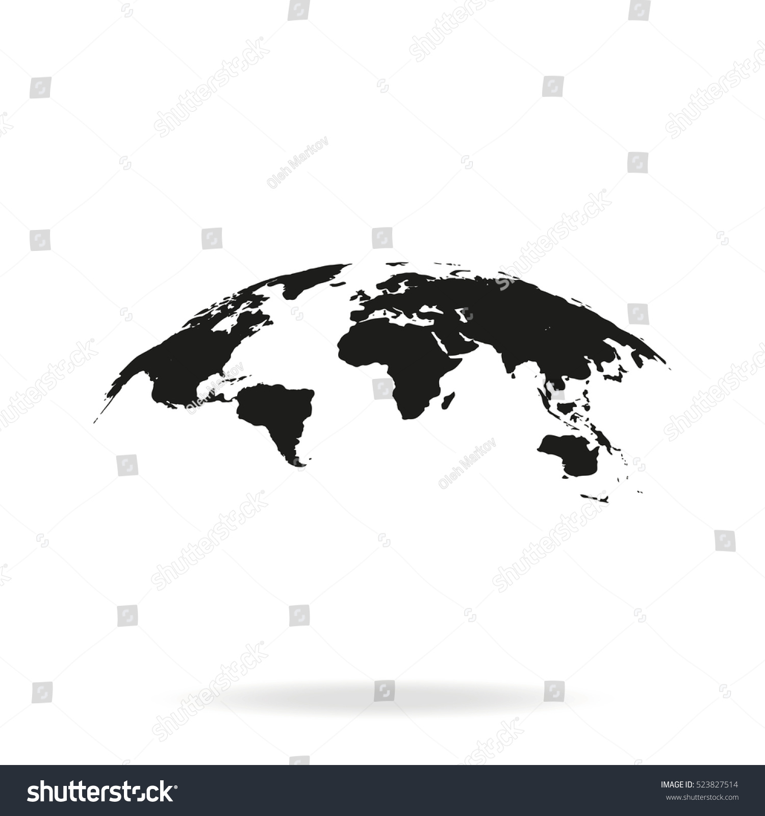 Global world map vector icon isolated stock vector royalty free global world map vector icon isolated on white background earth planet illustration flat globe gumiabroncs Image collections