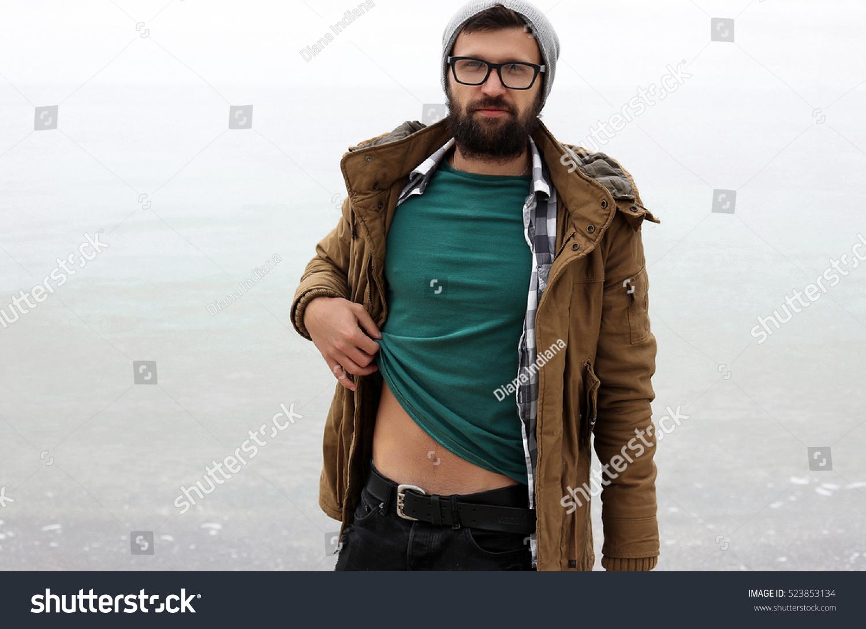 61d1f1761c1 Royalty-free Handsome man outdoor portrait