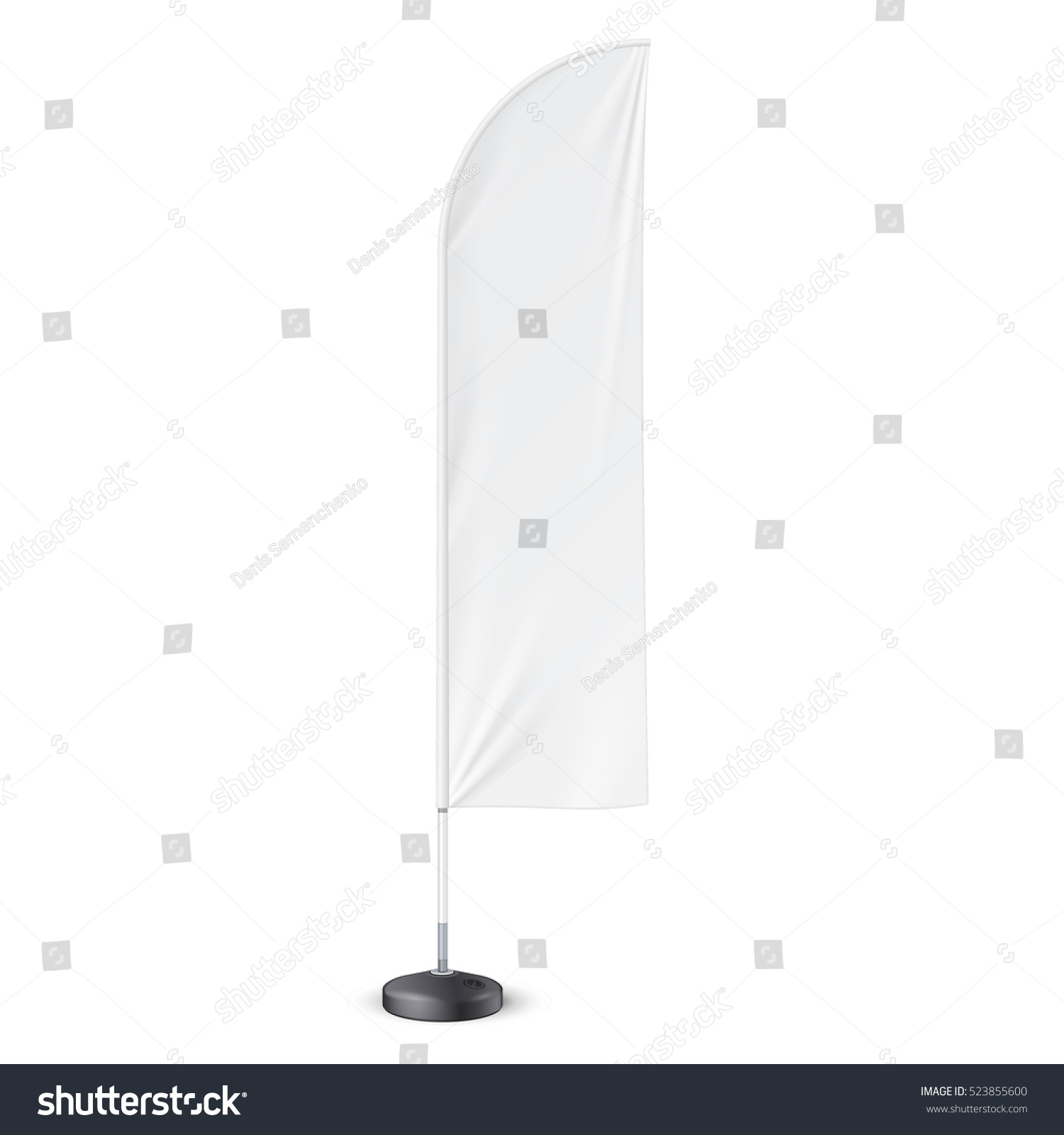 outdoor feather flag ground fillable water stock vector 523855600 shutterstock. Black Bedroom Furniture Sets. Home Design Ideas