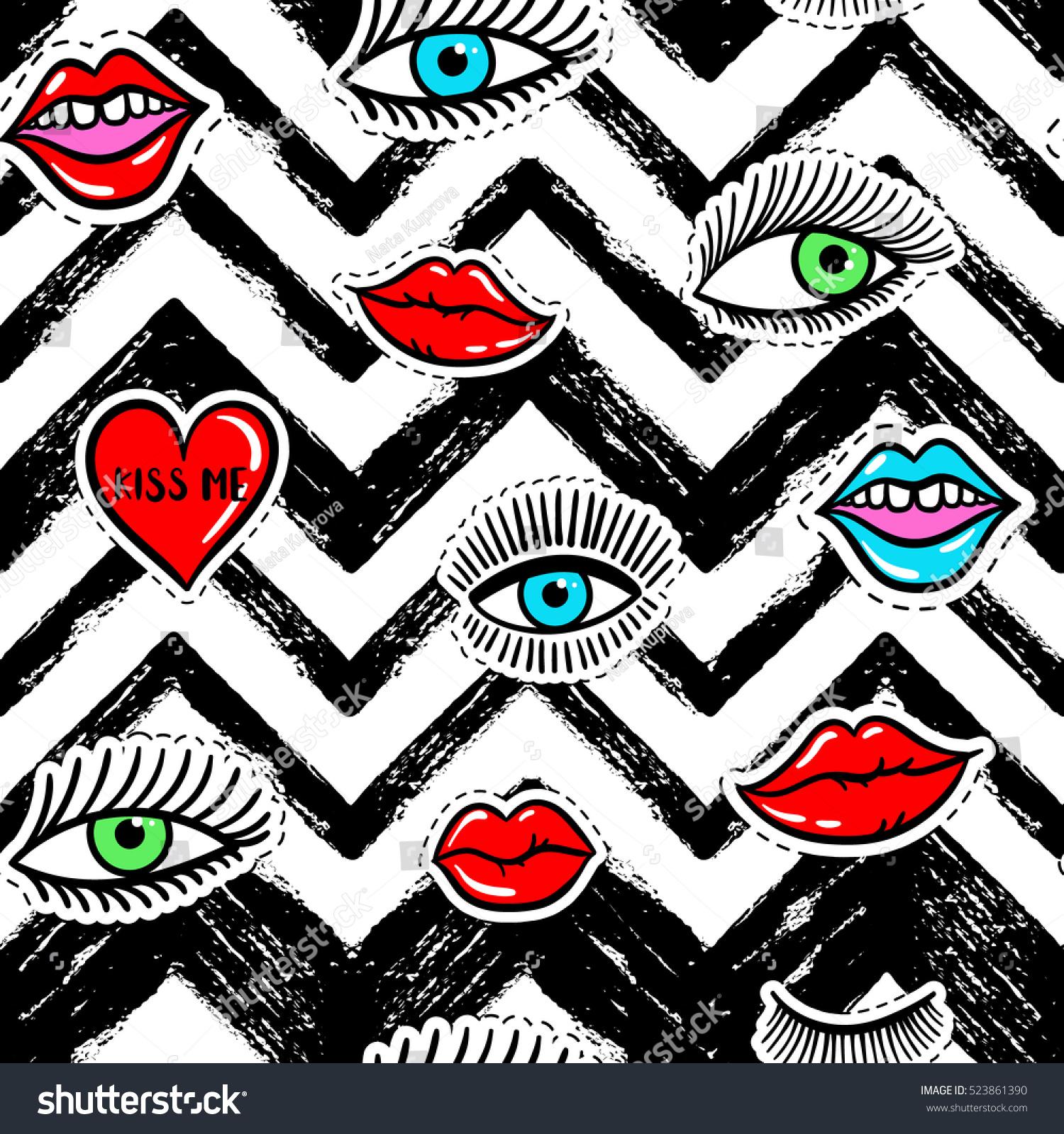 Black dress red lips stickers