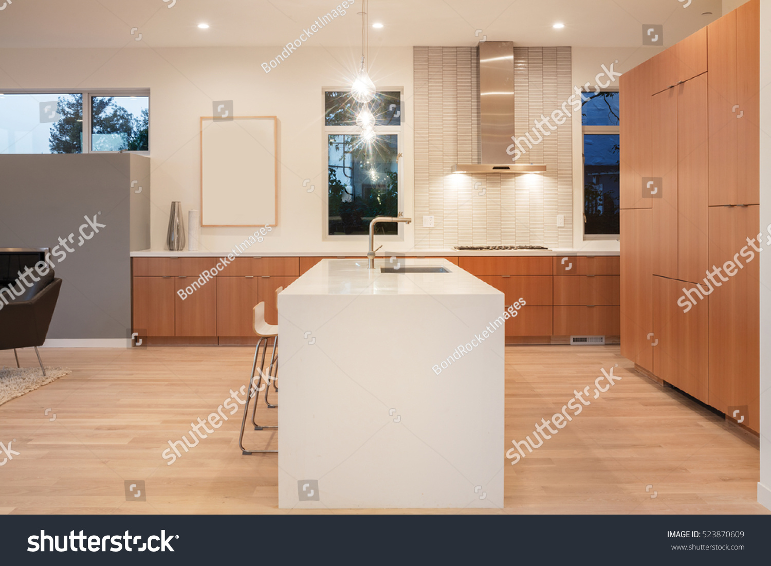 Amazing new contemporary wooden Kitchen with kitchen Island