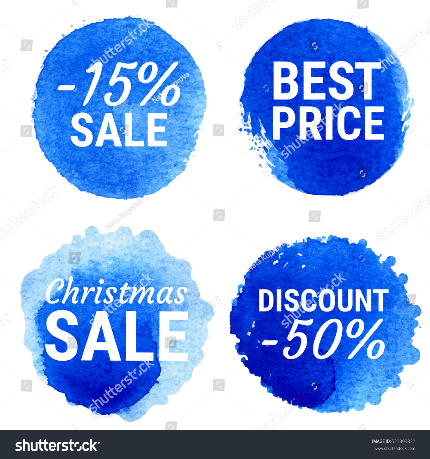 Vector Christmas Sale Best Price Round Stock Vector