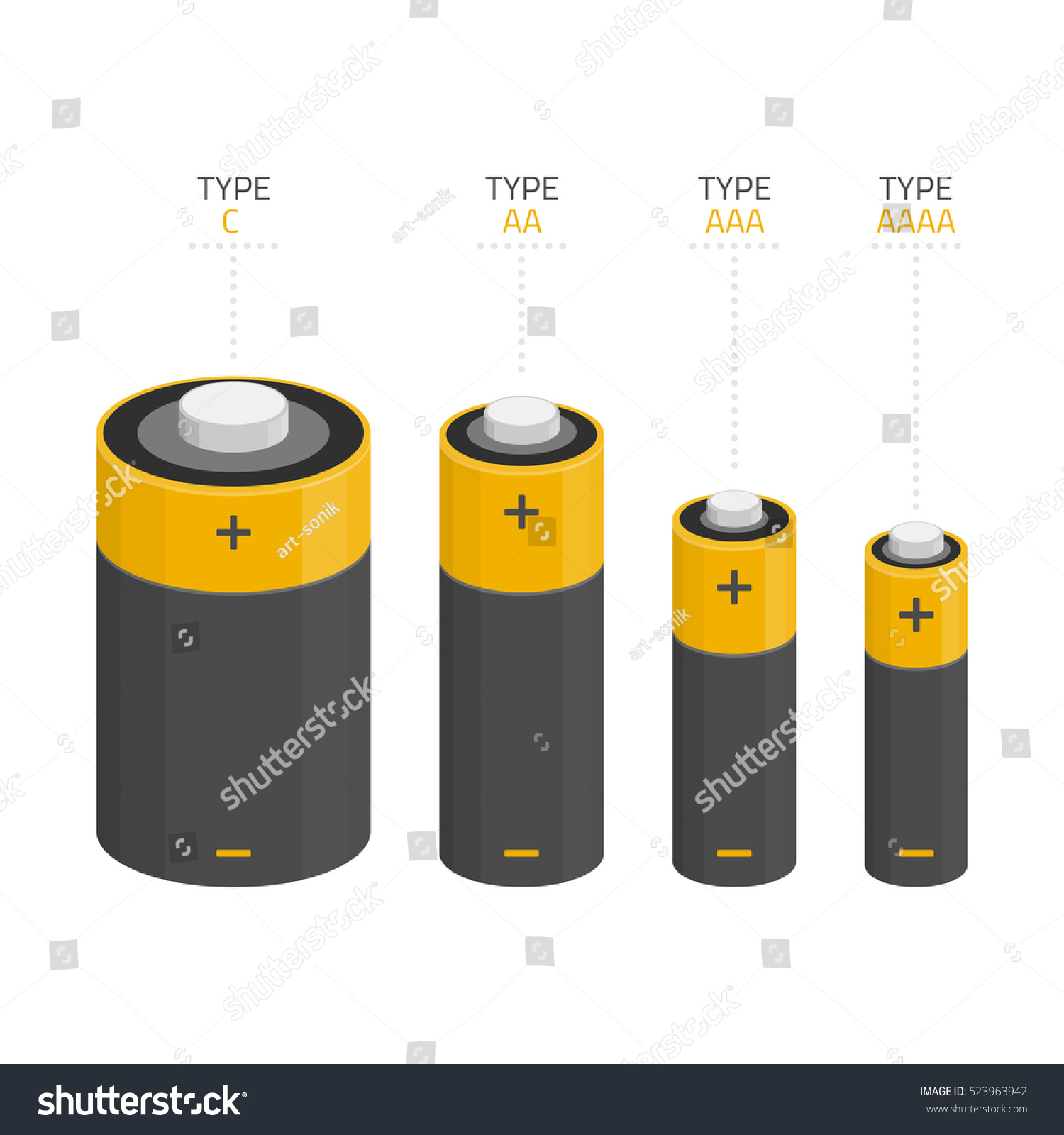 vector icons set different kinds sizes stock vector royalty free