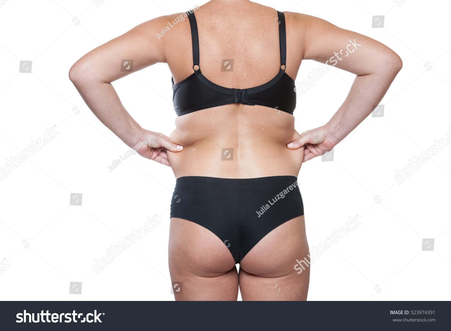 73f06517b33df Closeup Wrinkles Body Woman Wrinkles Waist Stock Photo (Edit Now ...