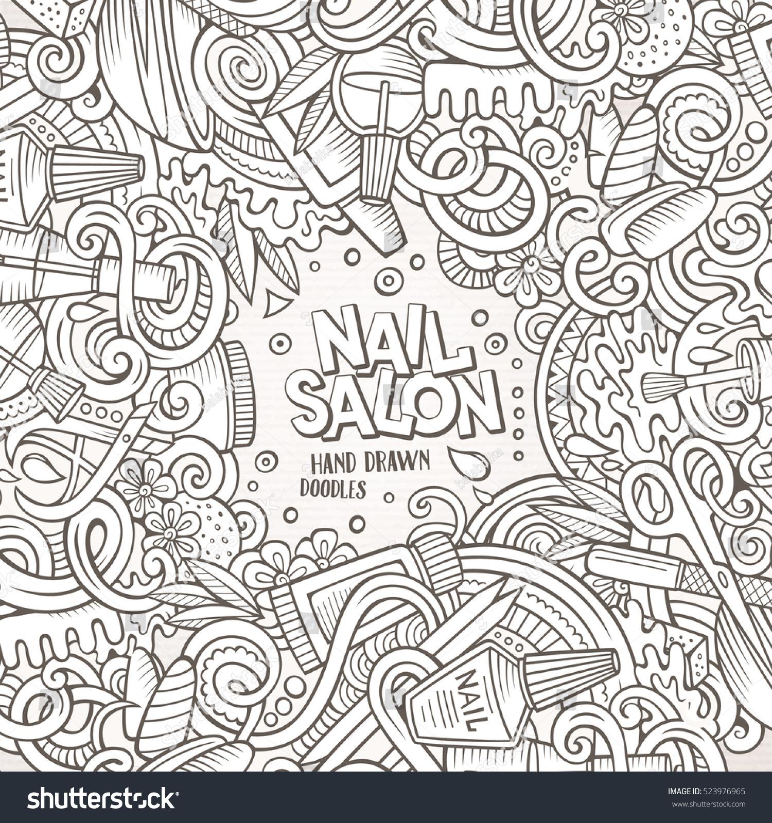 Royalty-free Cartoon cute doodles hand drawn Nail… #523976965 Stock ...