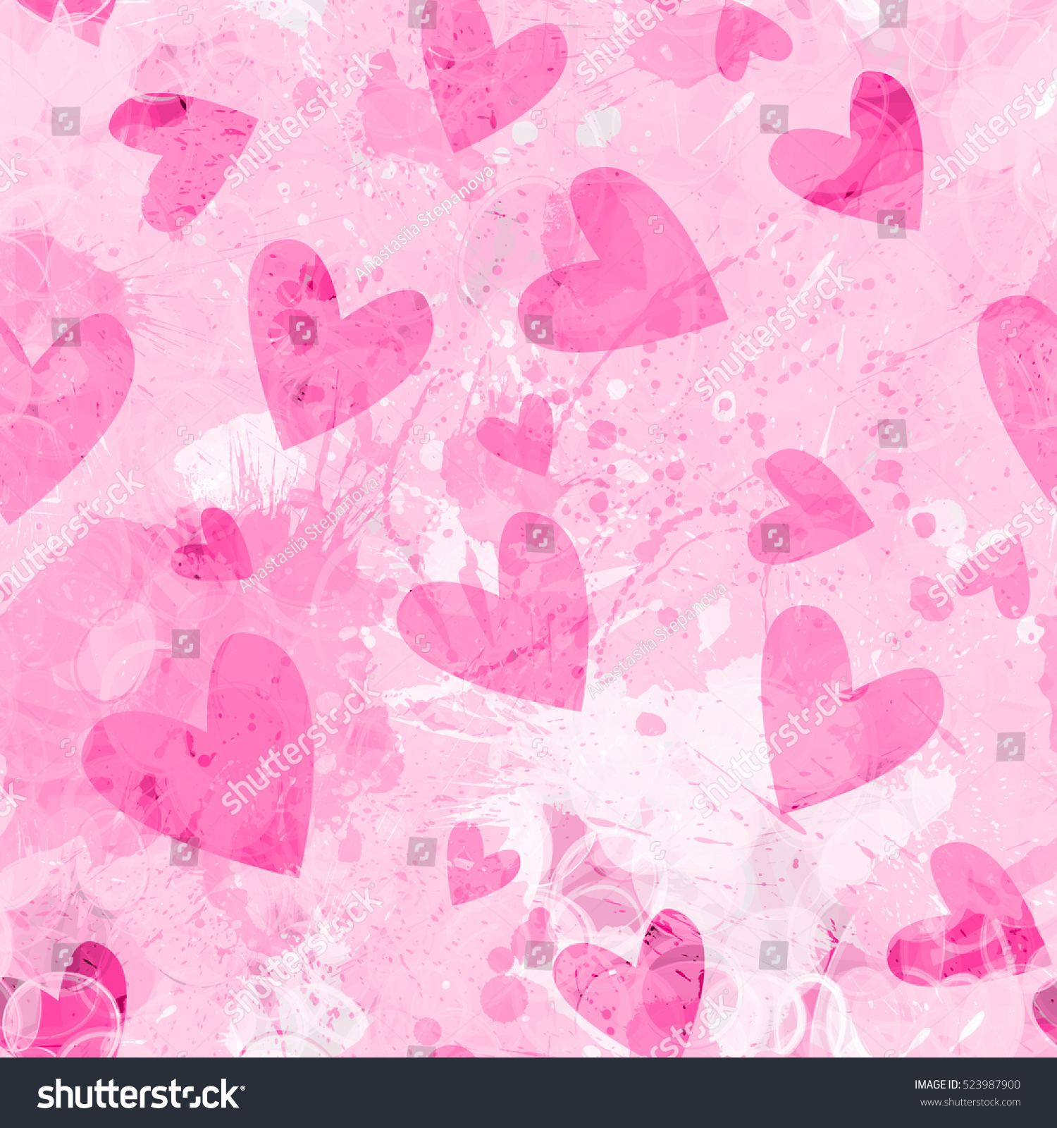 Valentines Day Hearts Pink Vector Design Stock Vector Royalty Free 523987900