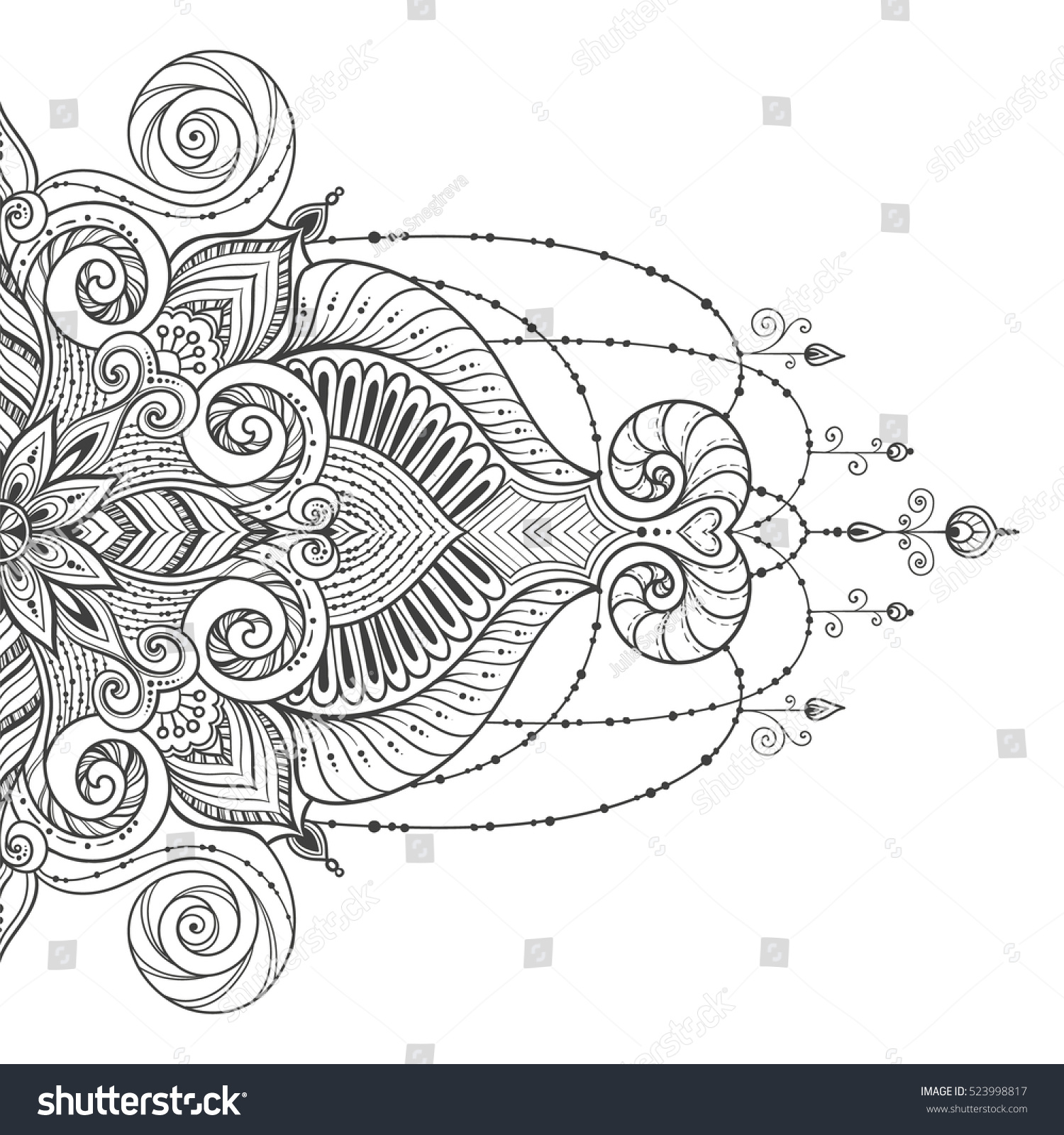 mandala vector tattoo perfect card any stock vector. Black Bedroom Furniture Sets. Home Design Ideas