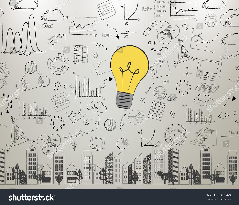 idea wall light bulb concept new stock photo edit now 524003479