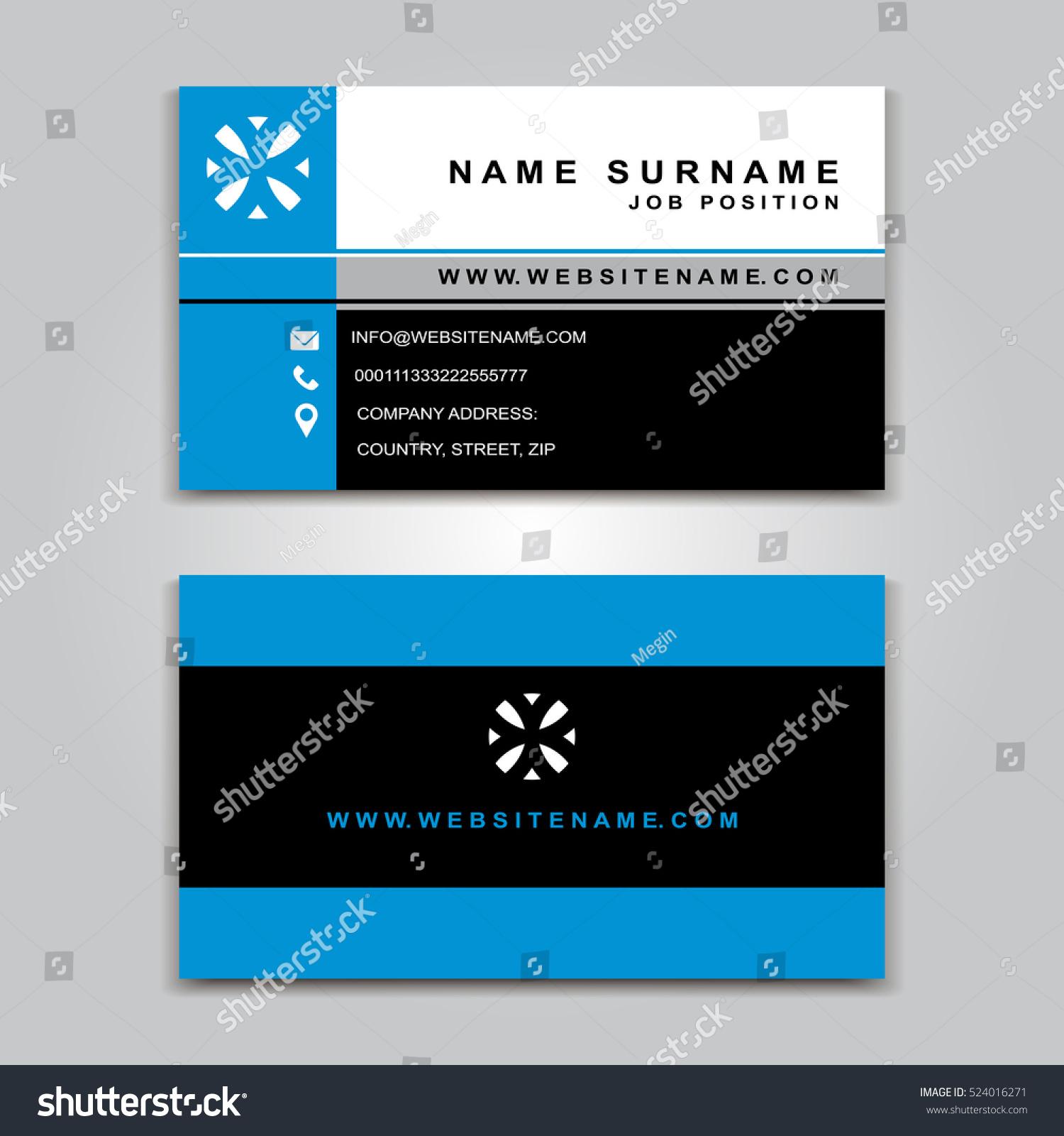 business vector card creative design front stock vector