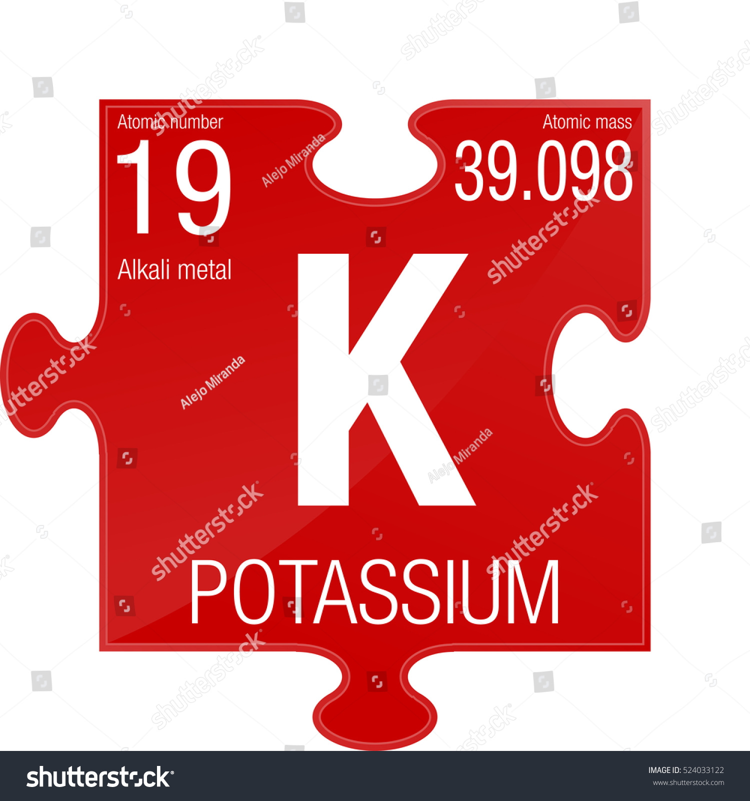 Potassium symbol element number 19 periodic stock vector 524033122 potassium symbol element number 19 of the periodic table of the elements chemistry buycottarizona