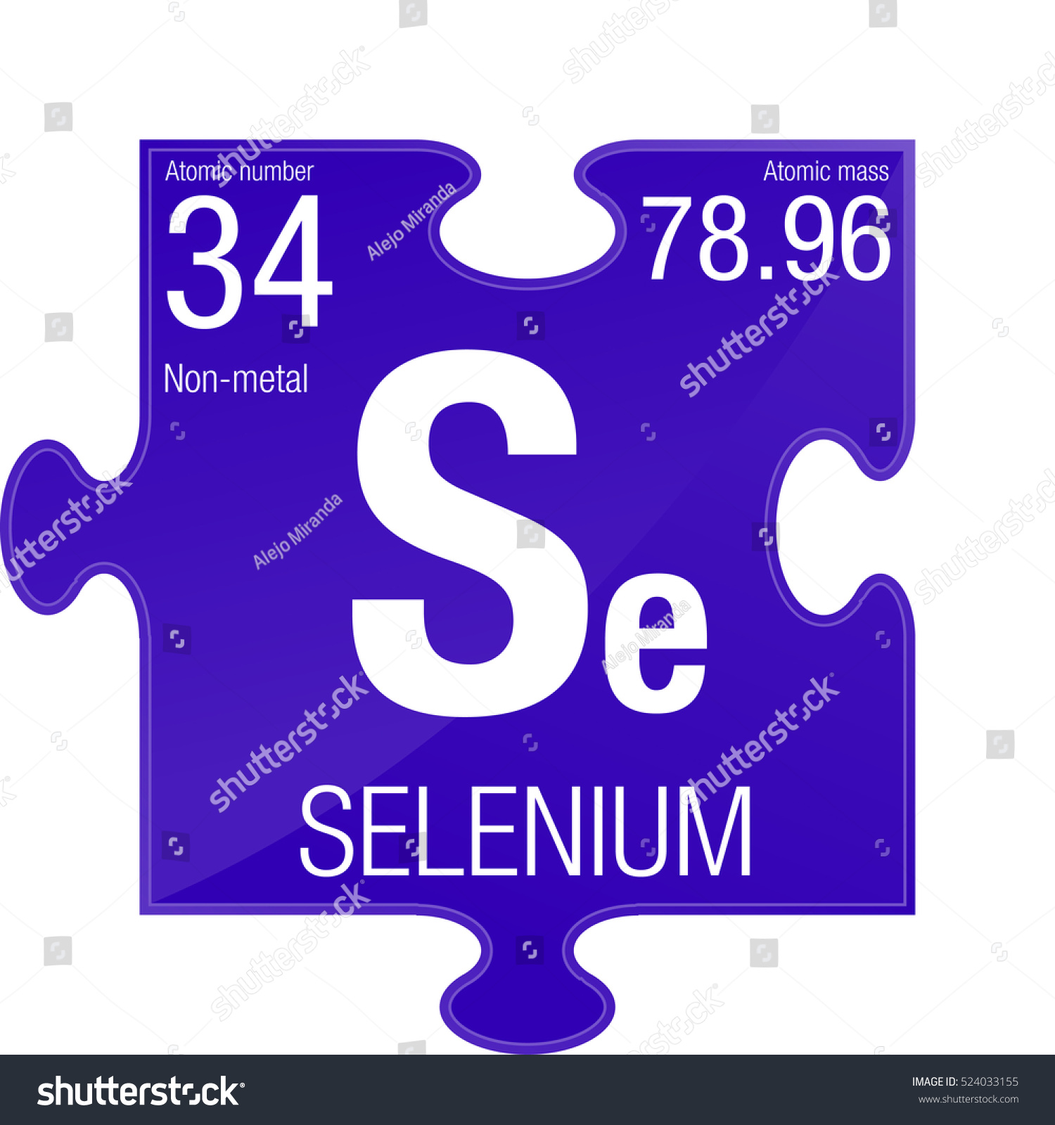 Selenium symbol element number 34 periodic stock vector 524033155 selenium symbol element number 34 of the periodic table of the elements chemistry gamestrikefo Images