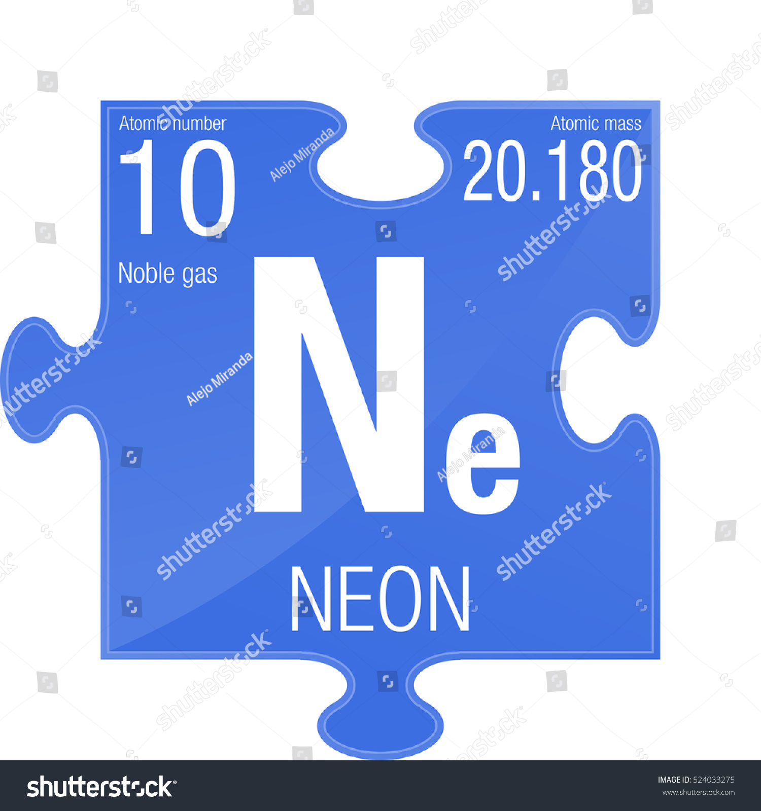 Neon symbol element number 10 periodic stock vector 2018 524033275 neon symbol element number 10 of the periodic table of the elements chemistry urtaz Images