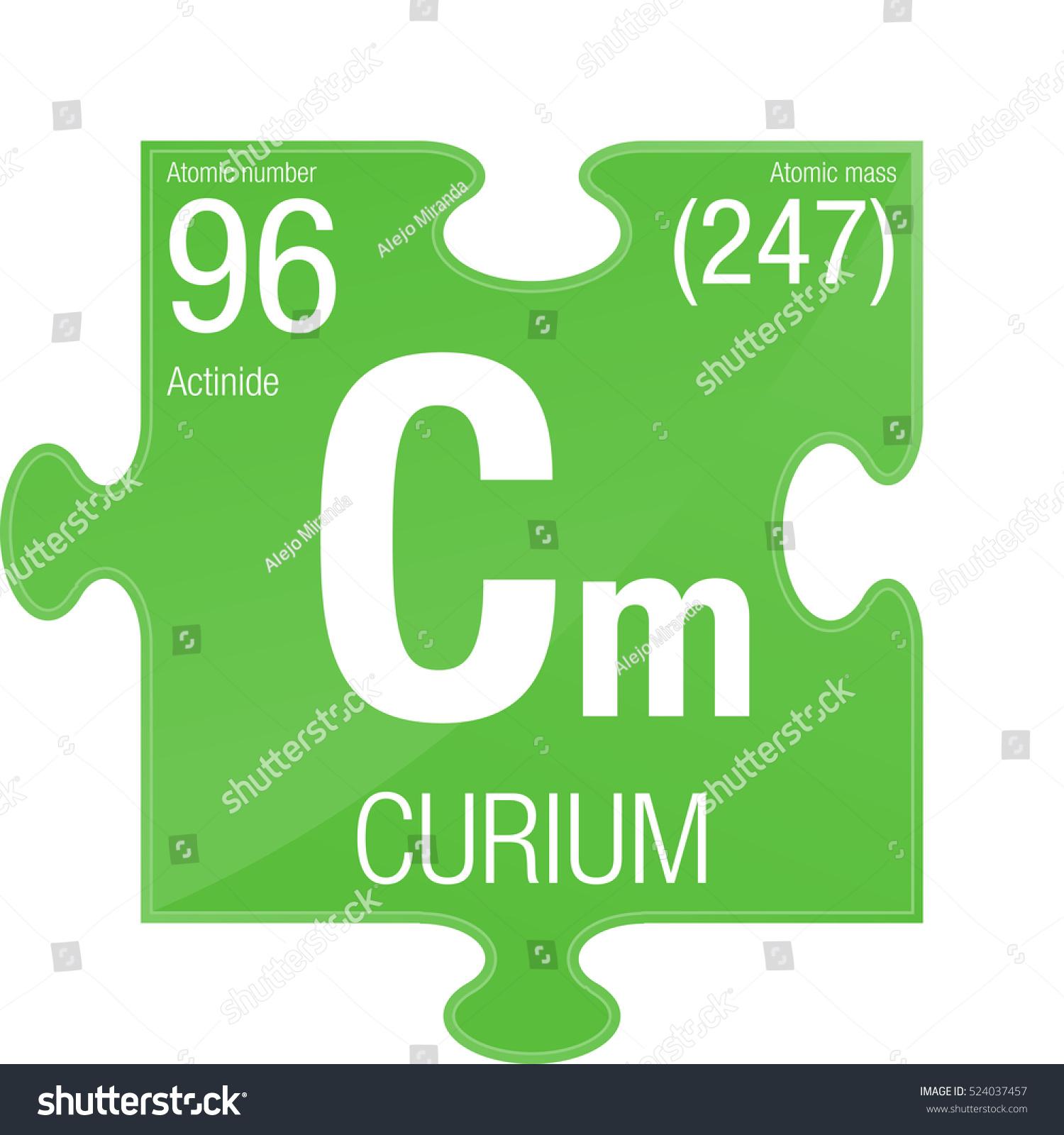Curium Symbol Element Number 96 Periodic Stock Vector Royalty Free