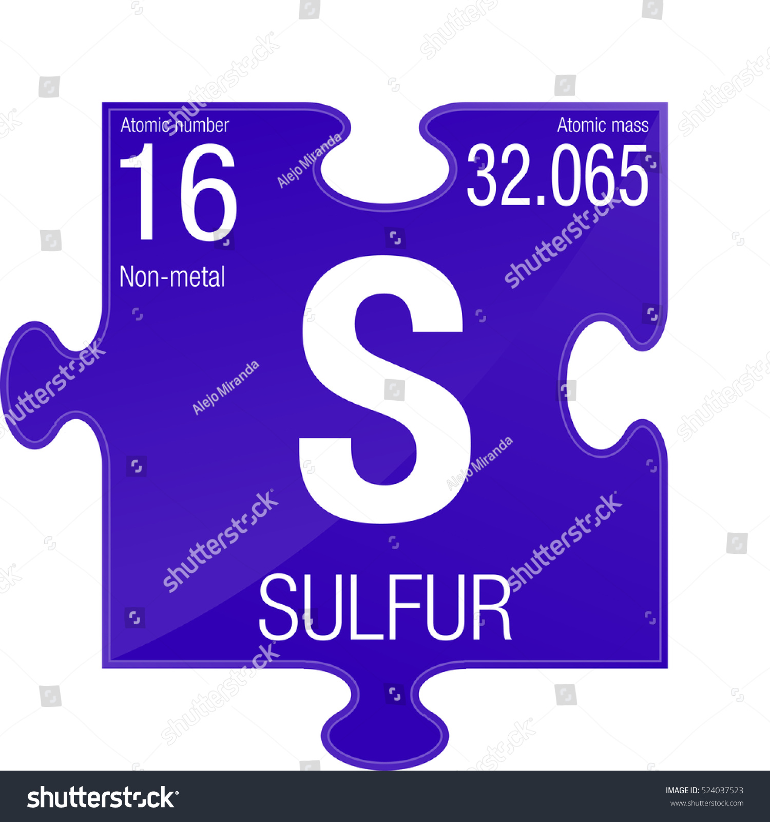 Sulfur symbol element number 16 periodic stock vector 524037523 element number 16 of the periodic table of the elements chemistry urtaz Images