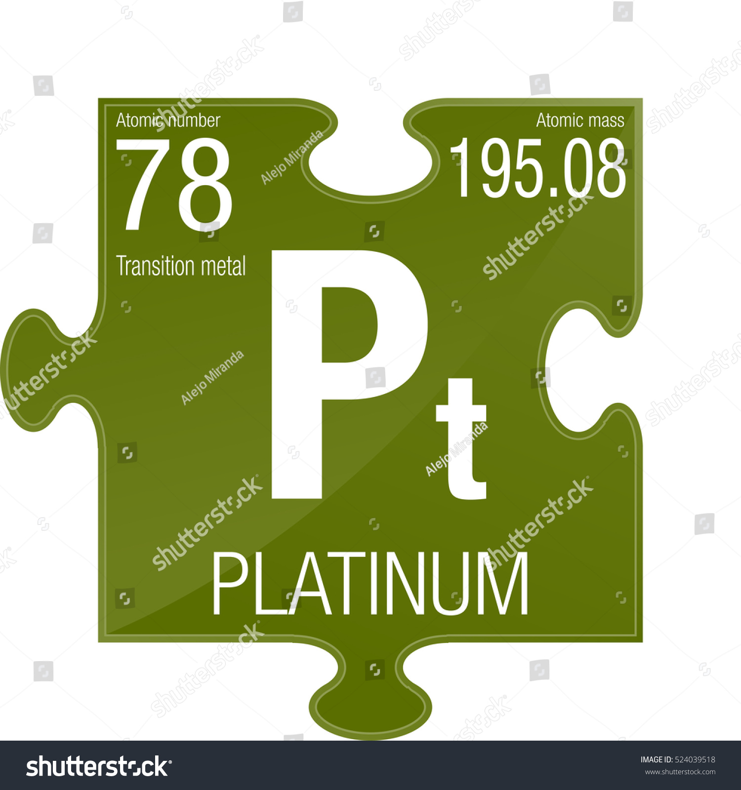 table chemical weight illustration of sign platinum stock atomic periodic element number