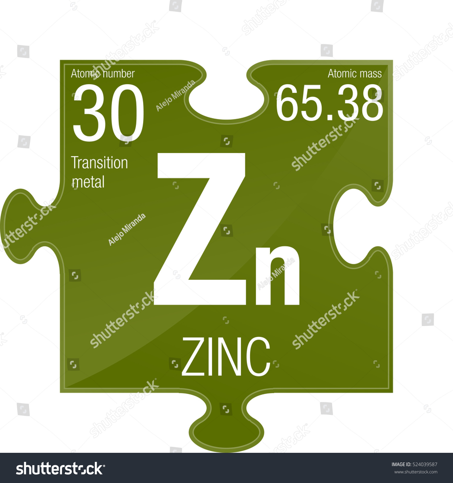 Zinc symbol element number 30 periodic stock vector 524039587 zinc symbol element number 30 of the periodic table of the elements chemistry gamestrikefo Gallery