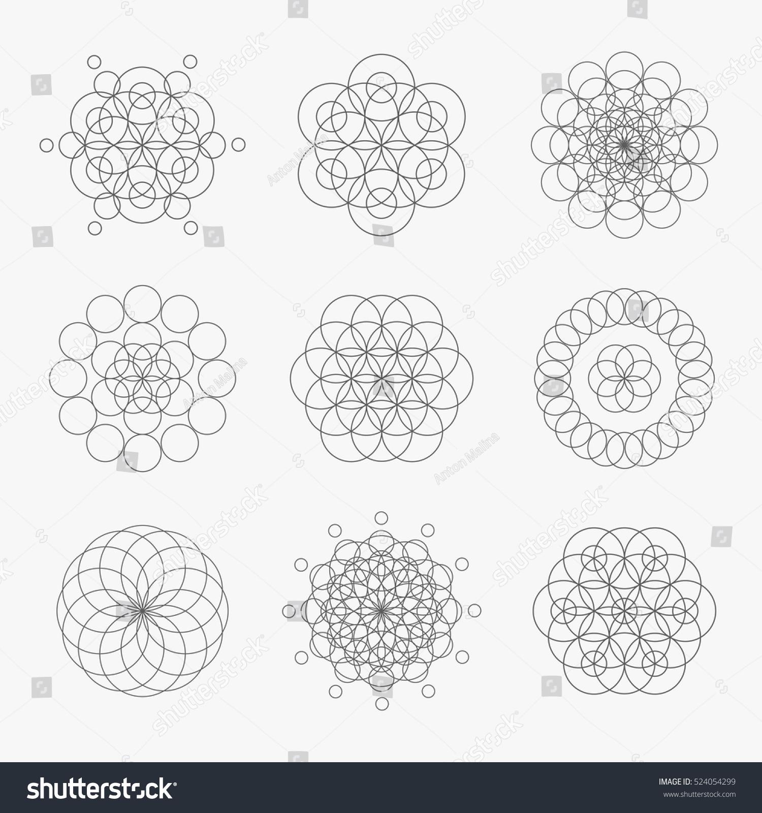 Geometric Circle Patterns Unique Inspiration
