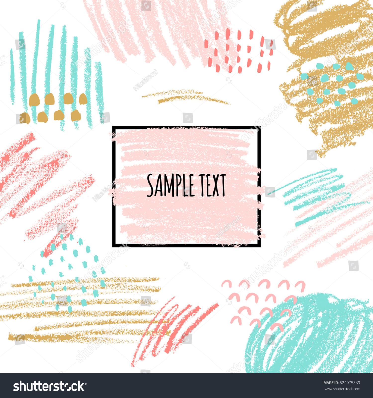 Artistic Background Hand Drawn Textures Pastel Vector de stock ...