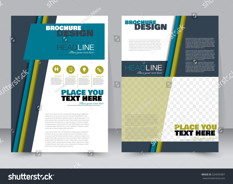Abstract Flyer Design Background Brochure Template Stock Vector ...