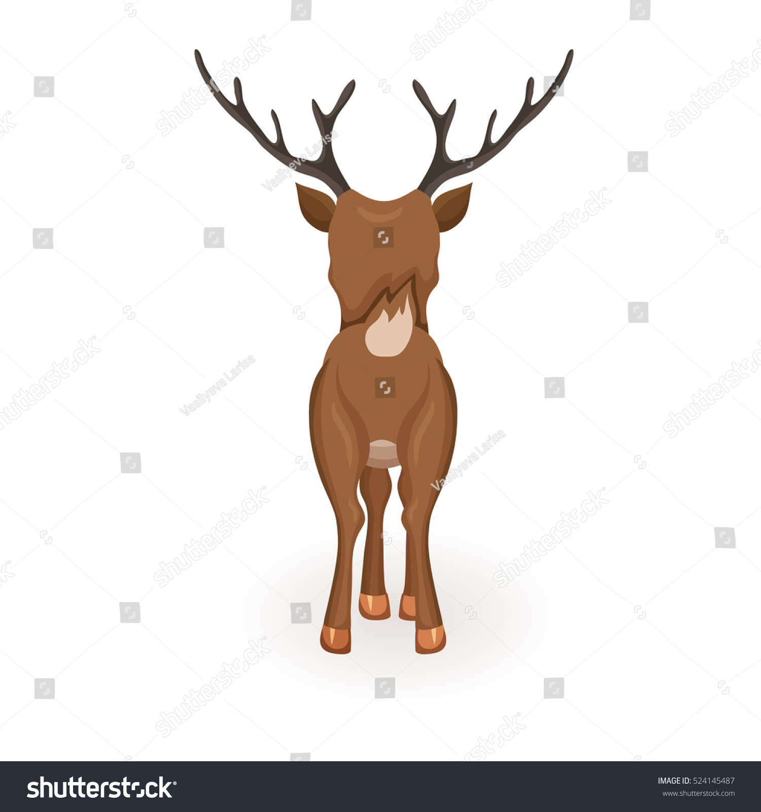 Reindeer Christmas Vector Illustration Stand Deer Stock ...
