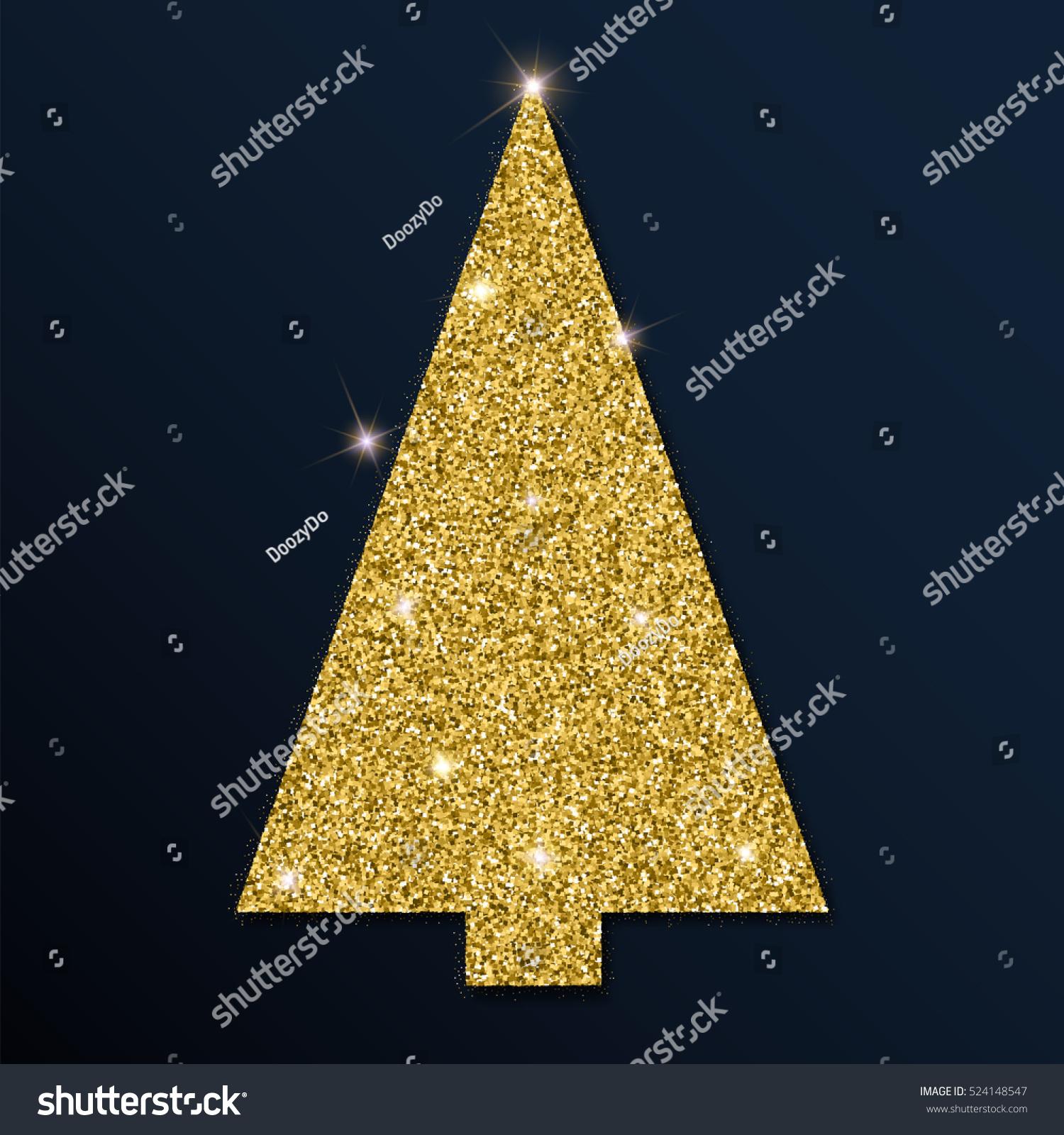 golden glitter unique christmas tree luxurious christmas design element with golden glitter christmas tree - Unique Christmas Trees