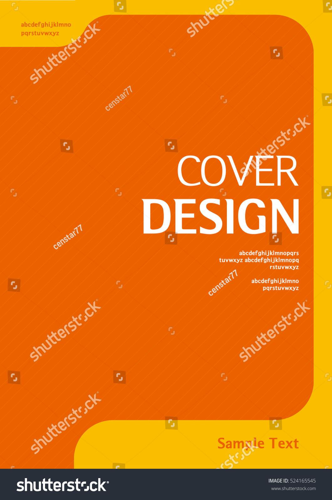 Cover Book Brochure Layout Vector : Book cover design vector template a stock