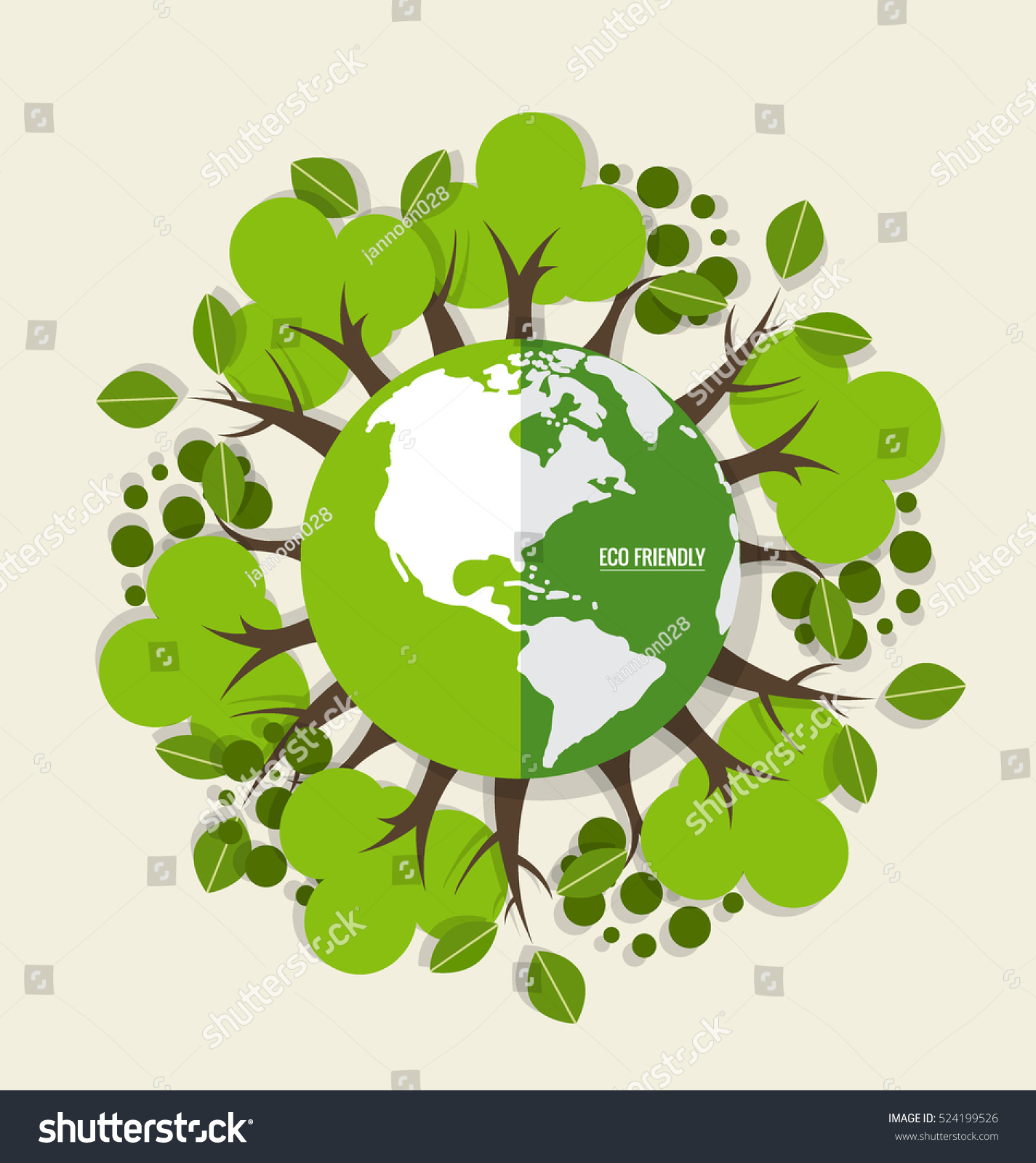 eco friendly ecology concept green eco stock vector 524199526 shutterstock. Black Bedroom Furniture Sets. Home Design Ideas