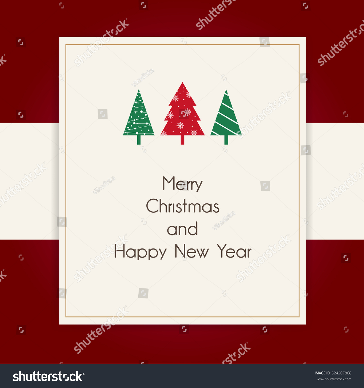 Greetings Merry Christmas Happy New Year Stock Vector (Royalty Free ...